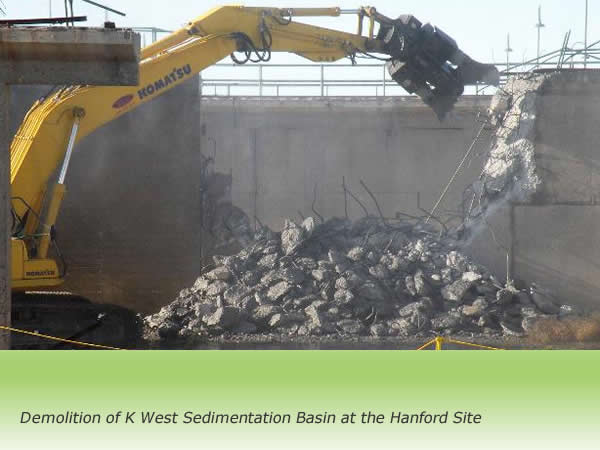 Demolition of K West Sedimentation Basin at the Hanford Site